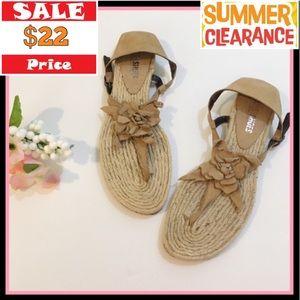 Nara Shoes Tan Paolo Sandal